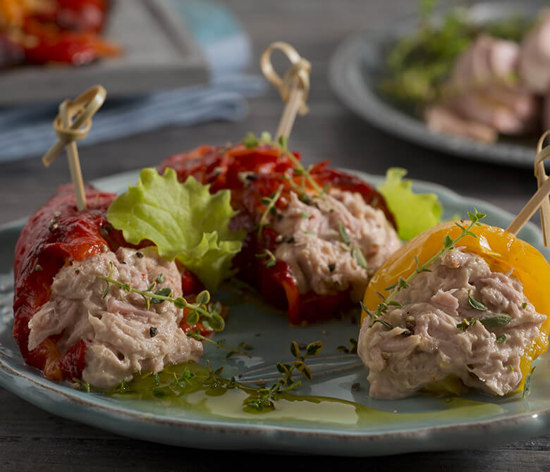 Весенние роллы с тунцом и перцем