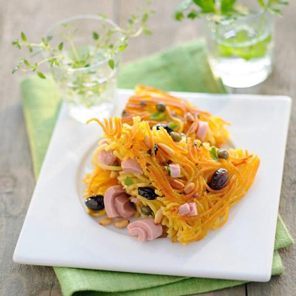 Спагетти Фриттата с тунцом