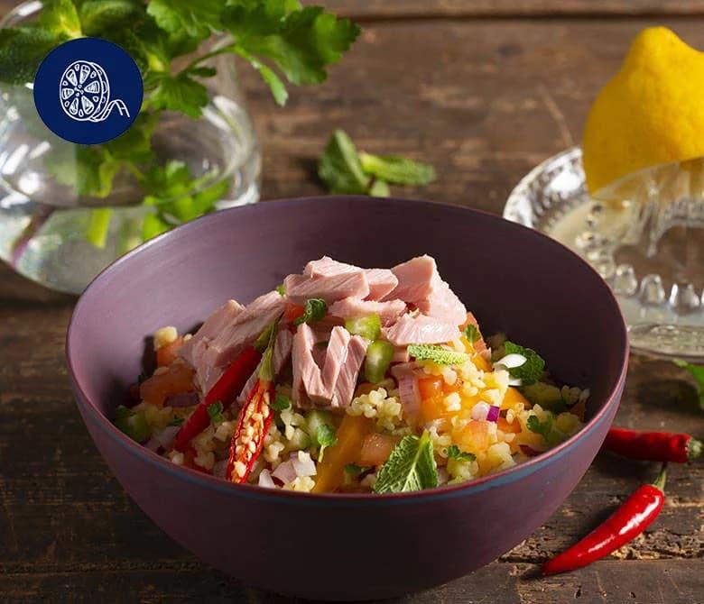Салат из тунца с булгуром